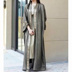 Hijab Fashion Selection of over 100 looks in trendy and chic Abaya Hijab Fashion 2017, Arab Fashion, Islamic Fashion, Muslim Fashion, Modest Fashion, Fashion Outfits, Modest Wear, Modest Outfits, Abaya Chic