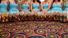 adorable. my favorite bible verse on bridesmaid shoes.