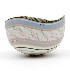 Glazed earthenware bowl design execution Hans Munck Andersen in own studio Bornholm / Denmark