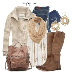 """Creamy Tan"" by taytay-268 on Polyvore"