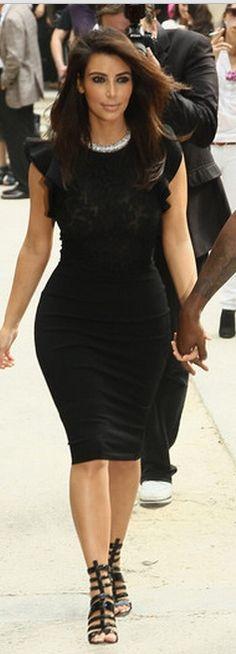Who made Kim Kardashian's black dress that she wore in Paris on July 4, 2012? Dress – Valentino