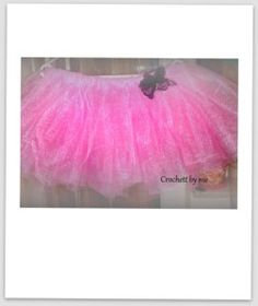 pink tutu with black bow