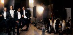 """Annie Leibovitz: Como pasa el tiempo """"MEN IN BLACK"""" Ben Stiller, Owen Wilson, Chris Rock, and Jack Black."""
