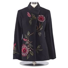 Boiled Wool Blossom Coat - Women's Clothing, Unique Boutique Styles & Classic Wardrobe Essentials