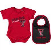 Texas Tech Red Raiders Infant Dribble Creeper & Bib Set - Red/Black