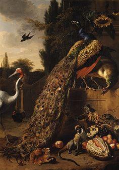 Melchior d'Hondecoeter: Peacocks (27.250.1) | Heilbrunn Timeline of Art History | The Metropolitan Museum of Art