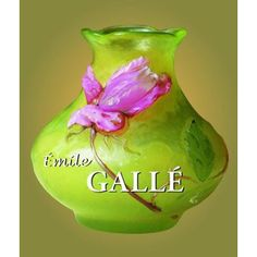 An icon in the Art Nouveau movement, Emile Galle sought to portray the beauty and simplicity of nature in his glass art. His designs, referred to as poetry in glass, range from fine potter Art Nouveau, Vases, Small Sculptures, Thing 1, French Artists, Glass Collection, Glass Design, Clay Art, Book Format
