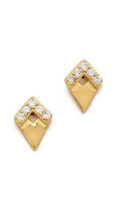 Gorjana Delano Deco Stud Earrings