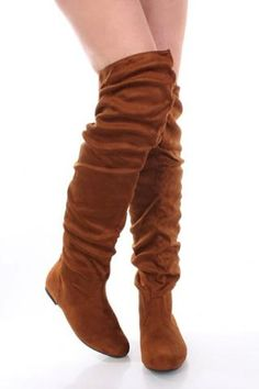 Tan Slouchy Thigh High Boot, i have boots like this but not as high