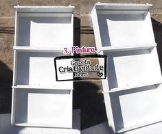 Como fazer prateleira com gavetas - Reciclagem de gavetas - Pintura