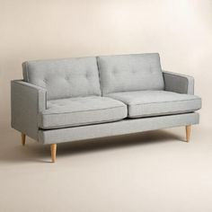 One of my favorite discoveries at WorldMarket.com: Dove Gray Woven Apel Sofa