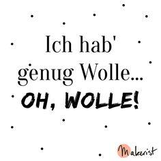 Ich habe genug Wolle - via Makerist.de