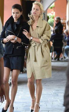 - Adriana Lima + Karolina Kurkova filming a commercial in Portofino, Italy. Boat Fashion, Fashion Shoot, Fashion Models, Fashion Outfits, Fashion Women, Women's Fashion, Adriana Lima Style, Dressing, Other Outfits