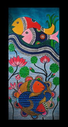 Modern Indian Art, Indian Folk Art, Tanjore Painting, Madhubani Painting, Indian Art Paintings, Modern Art Paintings, Mural Painting, Mural Art, Rajasthani Painting