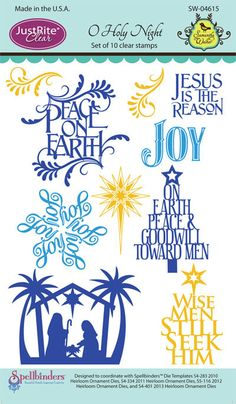 Justrite Papercraft| Samantha Walker Stamps |  cling stamps |O Holy Night Stamps  |