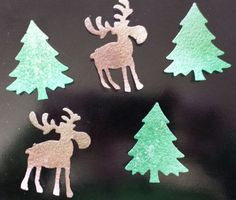 Edible Moose & Trees wafer paper cupcake toppers by ohSEWcuddly