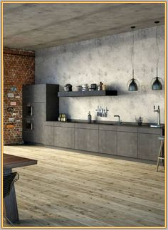 Concrete Ciré: Cheap worktop in concrete look- Beton Ciré: Günstige Arbeitspl. Interior Design Advice, Modern Interior Design, Interior Design Living Room, Diy Kitchen, Kitchen Interior, Kitchen Rack, Kitchen Mixer, Smart Kitchen, Kitchen Ideas