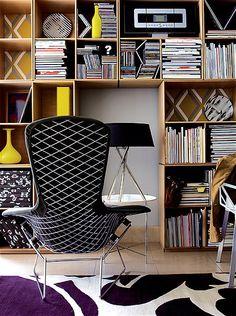 Shelf life: inventive use of space for storage can transform a room. Prateleiras, arrumação, decoração, escritório