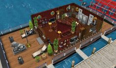 #Sims #Freeplay I like the central staircase and how the room is designed around it.