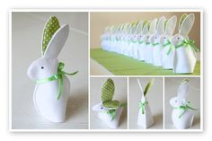 Paashaas eierwarmer van vilt Easter Crafts, Crafts For Kids, Easter Ideas, Here Comes Peter Cottontail, Ornaments, Rabbits, Sewing Ideas, Toys, School