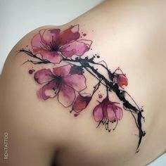 Looking for watercolor tattoos? So, take a look at our article., Looking for watercolor tattoos? So, take a look at our article. Here are stunning watercolor tattoo designs and ideas. The combination of waterco. Tattoos For Women Flowers, Cute Tattoos For Women, Flower Wrist Tattoos, Shoulder Tattoos For Women, Wrist Tattoos For Women, Tattoo Designs For Women, Finger Tattoos, Rose Tattoos, Body Art Tattoos