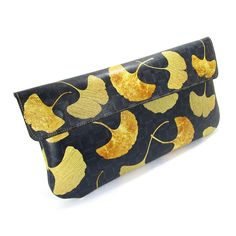 Leather Clutch Bag, Wedding clutch, Bridesmaid clutch, Evening Bag - Golden Ginkgo leaf (Exclusive range) by tovicorrie on Etsy https://www.etsy.com/listing/231061960/leather-clutch-bag-wedding-clutch