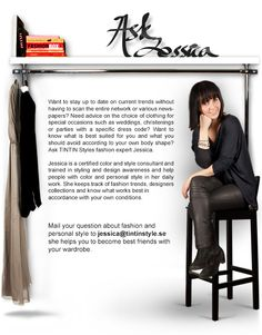 Ask Jessica about fashion and personal style at Tintin Style!