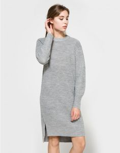 Reflection Knit Dress in Grey