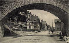 Postcard Sonneberg in Thüringen, Brücke über der Bettelheckener Strasse 1912