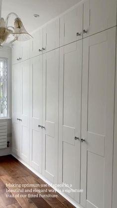 Bedroom Built In Wardrobe, Bedroom Built Ins, Bedroom Closet Design, Home Room Design, Room Decor Bedroom, Wardrobe Furniture, Wardrobe Doors, Wardrobe Closet, Wall Of Closets