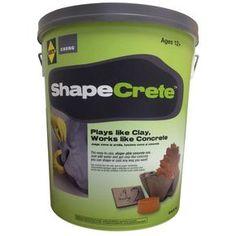 Concrete Ready Mix Shape-able Mortar Cement Masonry Build Sakrete Shapecrete for sale online Concrete Leaves, Concrete Cement, Concrete Garden, Cement Art, Cement Planters, Concrete Sculpture, Concrete Furniture, Cheng Concrete, Concrete Edging