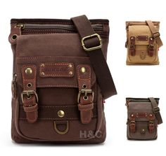 Men's canvas Mailbag Sling Bag Cross Body Hiking Messenger Shoulder Bag Small | eBay