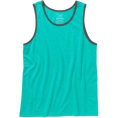 Faded Glory Big Men's Solid Tank, Size: 5XL, Blue