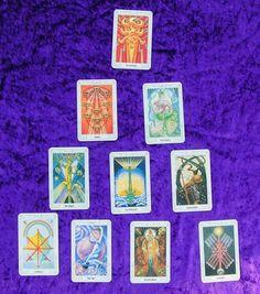 Tarot Reading 10 Card Pyramid of Love by HelensLightReadings, $25.00