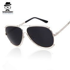 Top Quality Fashion Sun Glasses 2016 Brand Men Women Outdoor Sunglasses  Eyeglasses Gold Eyewear Oculos Masculino Metal Bridge 9484d91125