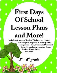 40 pages of EDITABLE first day documents!Are you ever wondering what you should cover on the first day of school and how to make it all flow together? I remember my first year feeling overwhelmed when I realized I had to cover everything from walking in the classroom to sharpening pencils, to drink procedures, to recess policies...YIKES!