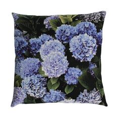 Image of Hydrangeas blue sepia cushion cover Blue Hydrangea, Hydrangeas, Art Decor, Cushions, Textiles, Throw Pillows, Inspiration, Architecture, Cover