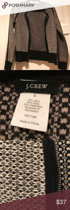 J. Crew Cardigan Sweater Great condition. No holes or stains. Does have some pilling on sides and sleeves but isn't noticeable because of the pattern. Heavier weight Sweater. Zips up the front. J. Crew Sweaters Cardigans