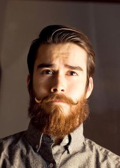 There are few men who can pull off the old school beard and look stinkin hot....this man is one of those few.