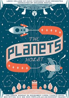 The Planets - Holst (by kristynabaczynski)  via by9tumblr.com #typography