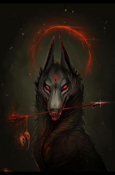 Dark Fantasy is the Best Fantasy Anime Wolf, Fantasy Kunst, Fantasy Art, Fantasy Demon, Fantasy Wolf, Demon Art, Demon Wolf, Arte Obscura, Wolf Wallpaper