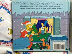 The Simpsons Xmas Book back