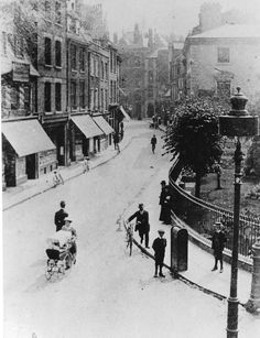 Sidney Street - The junction with Market Street in 1910 - the road surface has definitely improved