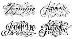 letras cursivas para tatuajes - Google Search