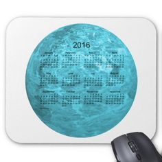 2016 Turquoise Calendar by Janz Mousepad