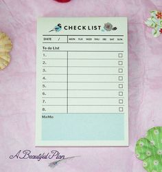 Cute To-Do Sticky Note List Pad by ABeautifulPlan on Etsy
