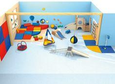 Exemple aménagement espace motricité crèche - structure jeux interieur professionnel