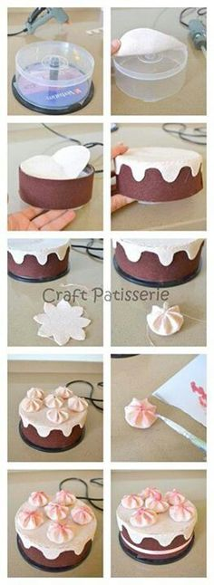Recycled CD Case into Felt Cake Box                                                                                                                                                                                 Mehr