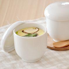 茶碗蒸し(ホワイト) 大人気! EASTオリジナル (アウトレット) シンプル茶碗蒸し/器/蒸し碗/ちゃわんむし/白い茶碗蒸し/美濃焼/和食器/蓋物