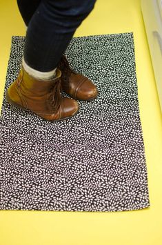 DIY Rug- you won't believe how it's made! - A Little Craft In Your Day